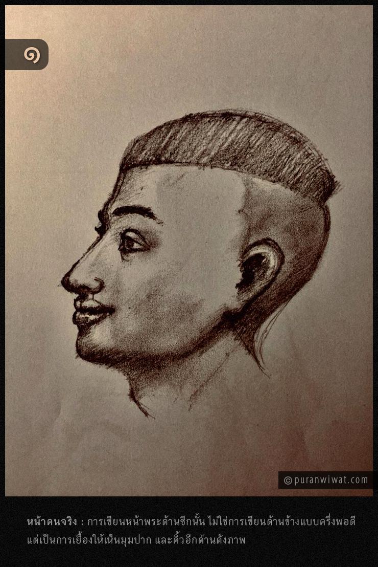 การวาดหน้าพระด้านซีก 1